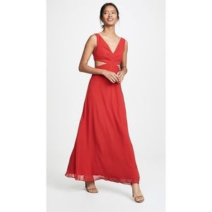 Fame and Partners Lennox Cutout Red Maxi Dress NWT